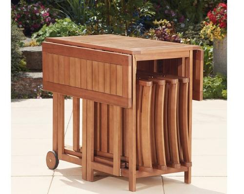 mesa comedor 100cmx85cm madera plegable y 4 sillas envio gra
