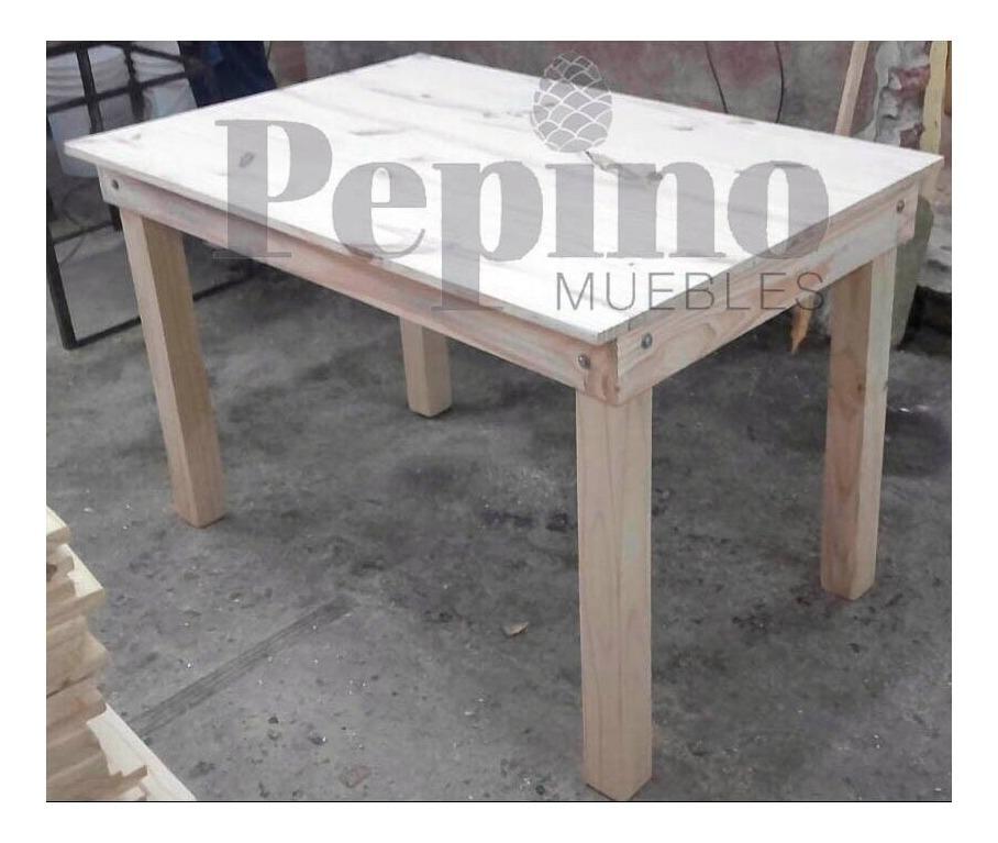 Mesa Comedor 100x70 Pino Macizo Fabrica Pepino Muebles
