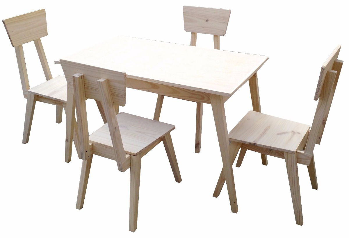 mesa comedor x sillas retro americanas mundopino