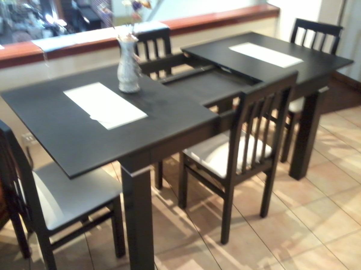 Mesa de comedor wengue extensible for Mesa comedor wengue