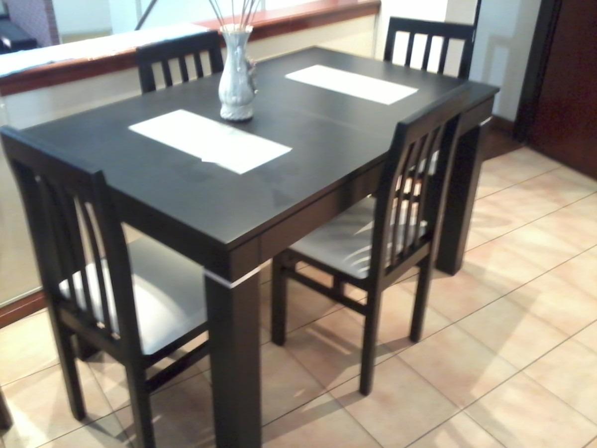Mesa Comedor 140x080 Wengue Mas 6 Sillas - $ 14.430,00 en Mercado Libre