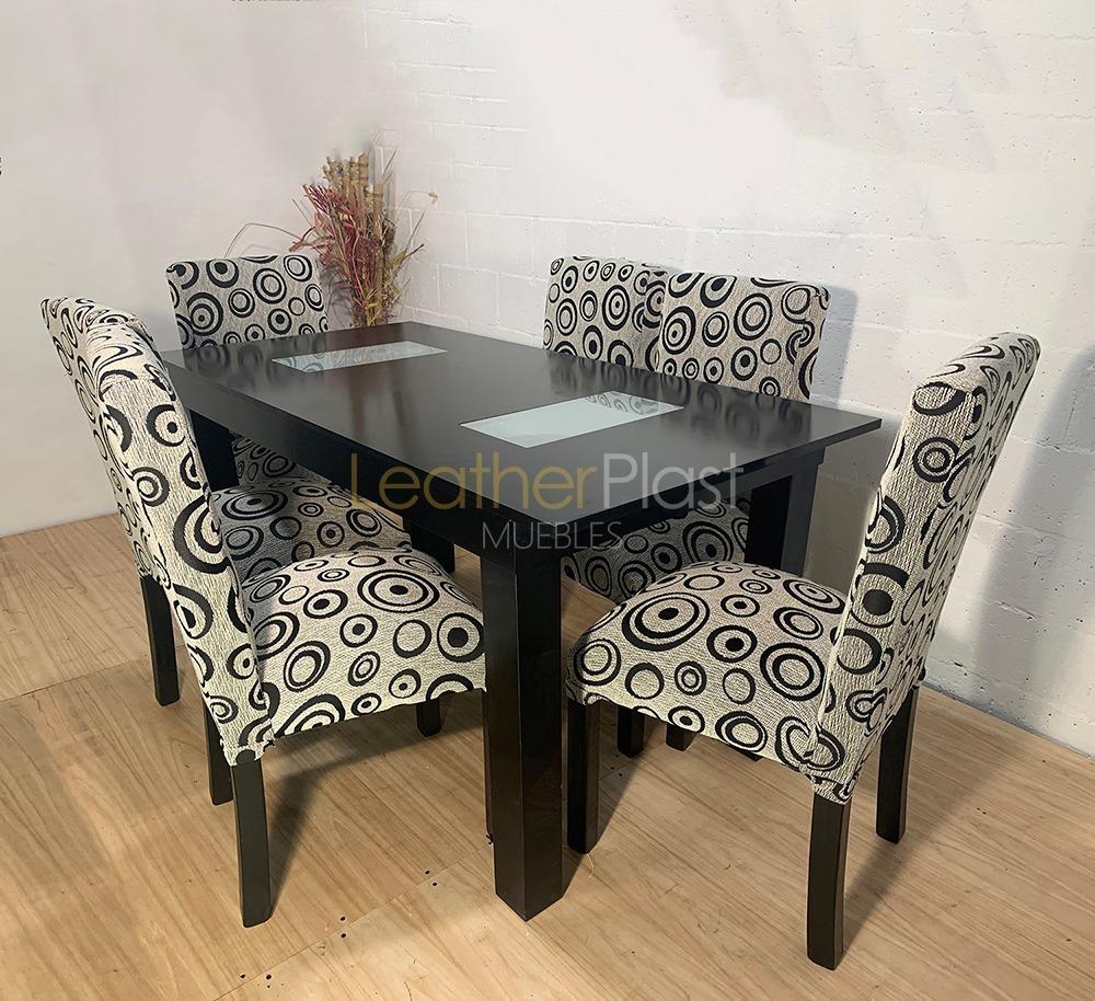 Mesa comedor rectangular extensible nogal
