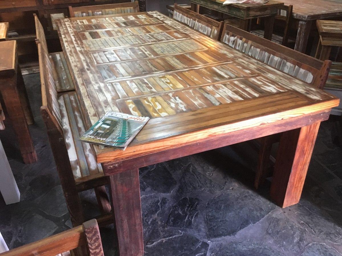 Mesa Comedor Madera Reciclada. Stunning Cult Living Mesa De ...