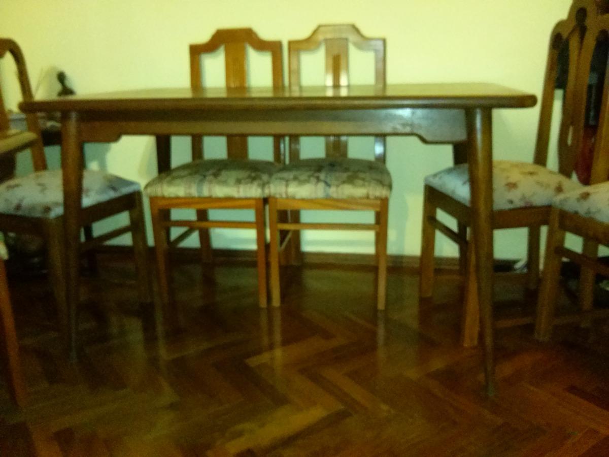 Mesa Comedor Antigua .enchapada Petiribi - $ 4.800,00 en Mercado Libre