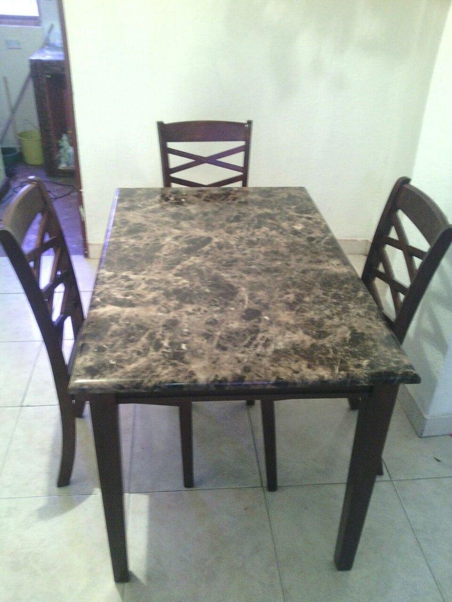 Mesa Comedor Ashley Furniture De 4 Ptos. Tope Imit. Marmol - Bs ...