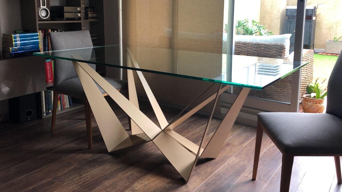 Mesa Comedor Base Hierro Diseño Italiano