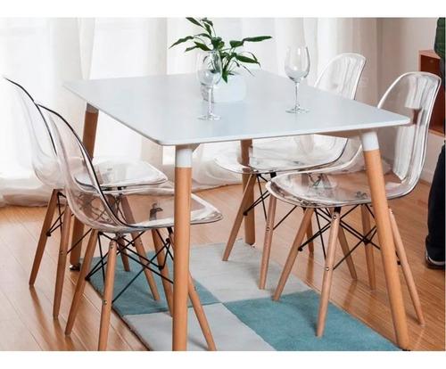 mesa comedor blanca eames rectangular 120x80 super oferta