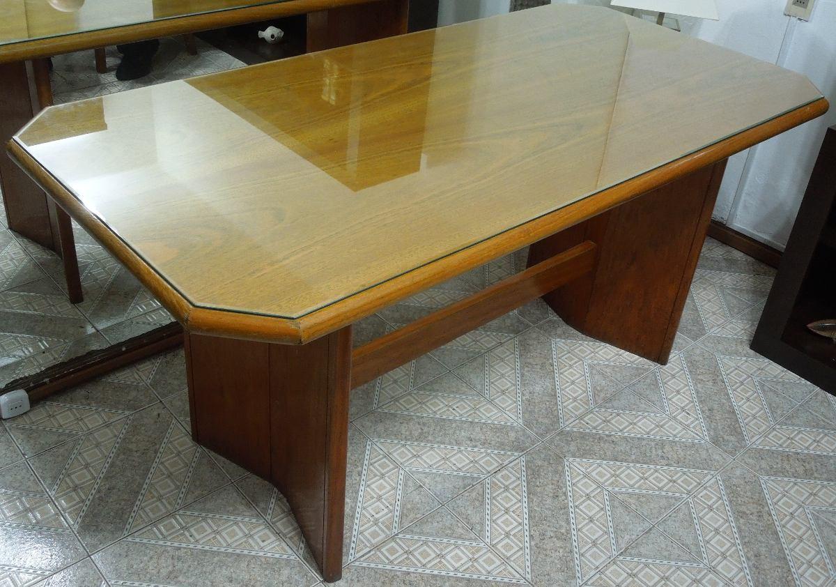 Mesa comedor cerejeira con vidrio en mercado for Precio de mesas de vidrio comedor