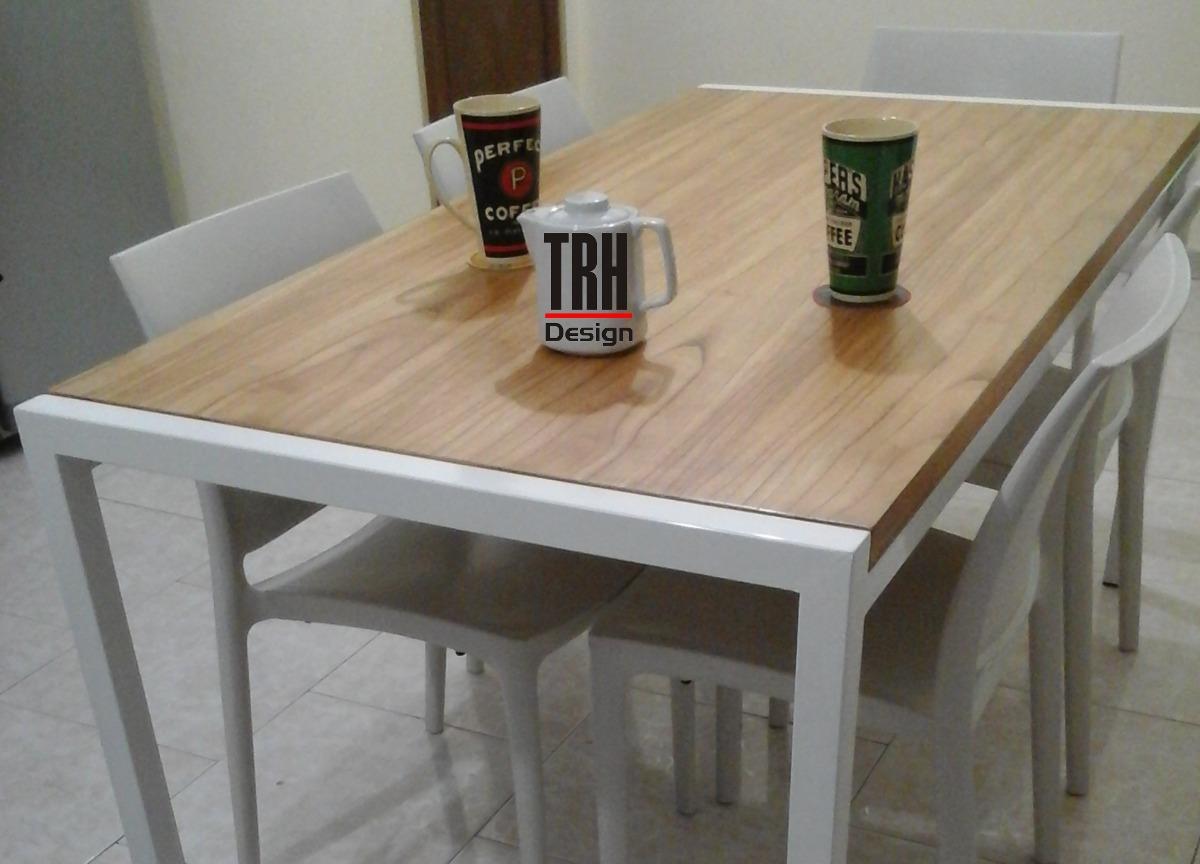 Mesa Comedor Cocina Hierro & Madera. Diseño Moderno En Stock ...