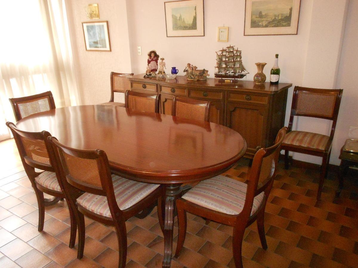 Mesa Comedor Colonial Americano Caoba 8 Sillas Esterilla - Bs. 700,00
