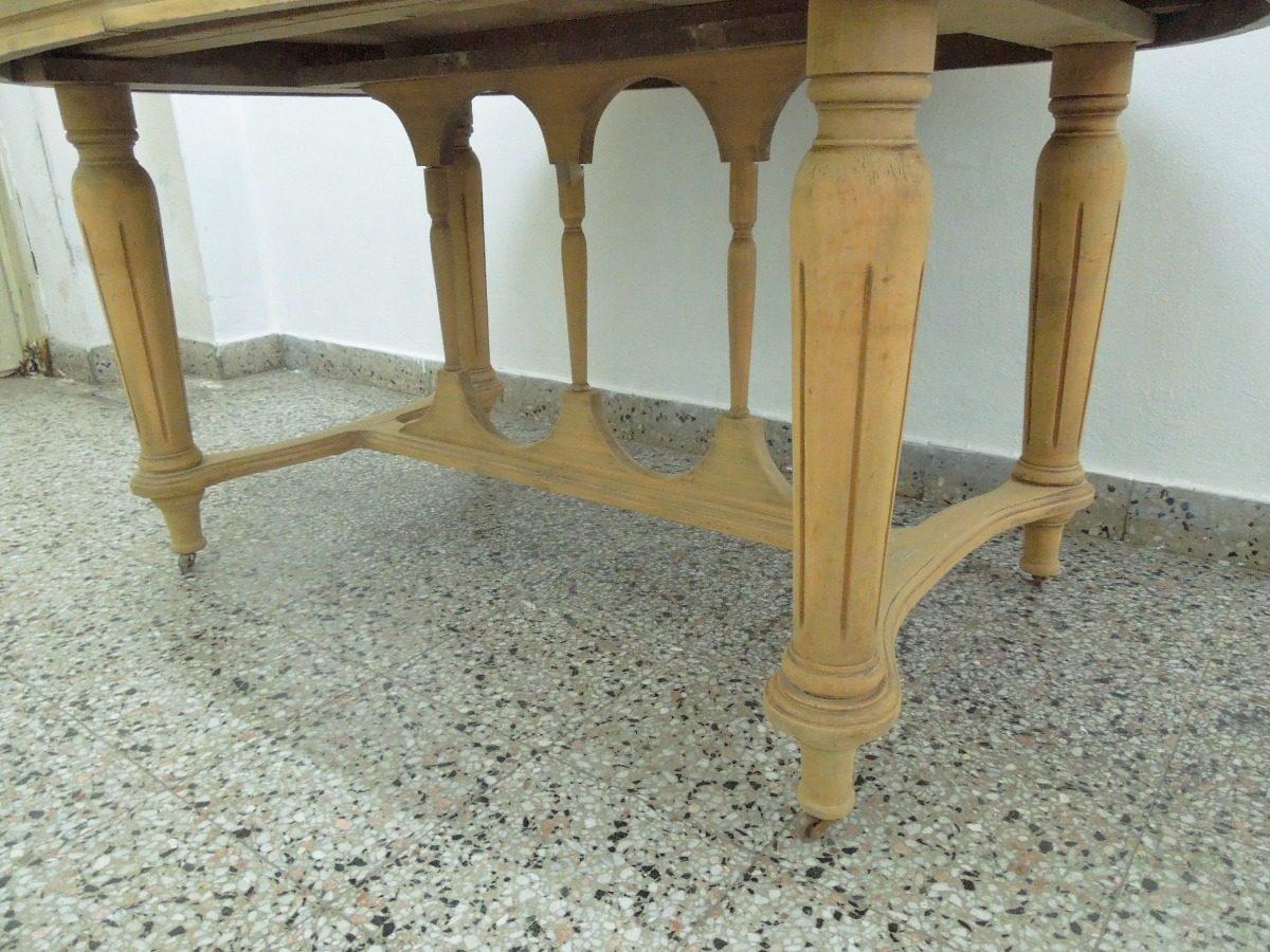 Mesa Comedor Colonial Lavada Tallada Sherathon Cedro M/buel ...