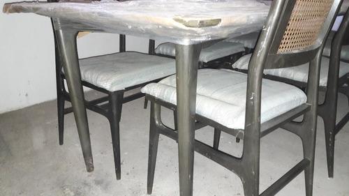 Mesa comedor completo 8 sillas 16 en mercado libre for Oferta comedor completo