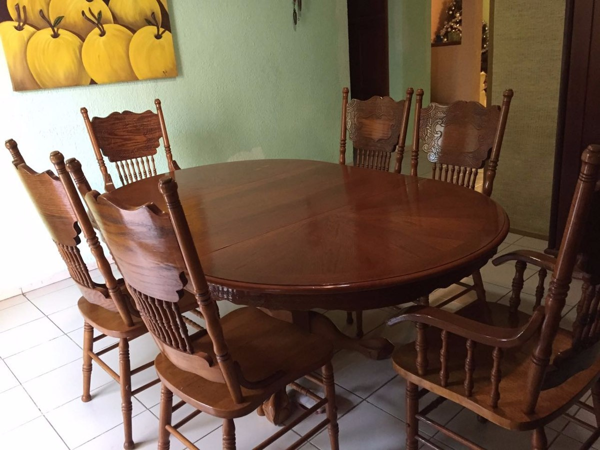 Mesa comedor con 6 sillas 13 en mercado libre for Comedor 6 sillas