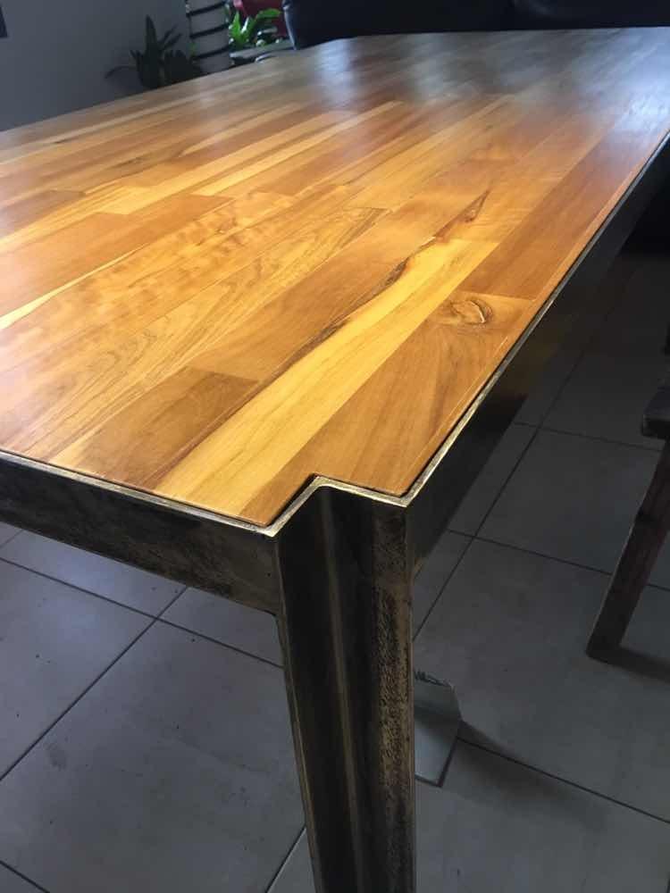 Mesa Comedor Con Diseño Original - $ 33.000,00 en Mercado Libre