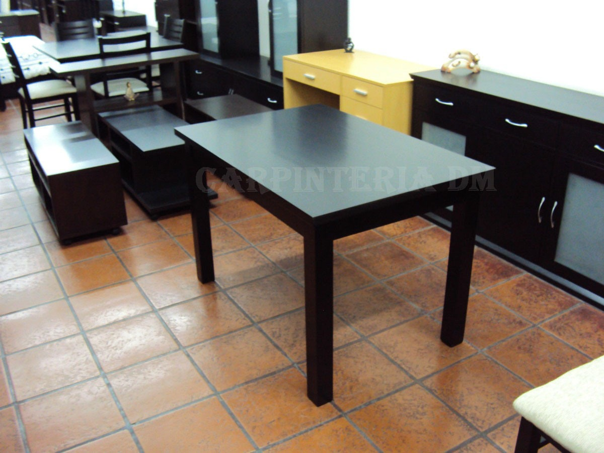Mesa Comedor Con Extensión 140x80cm + 50cm / Carpinteria Dm ...