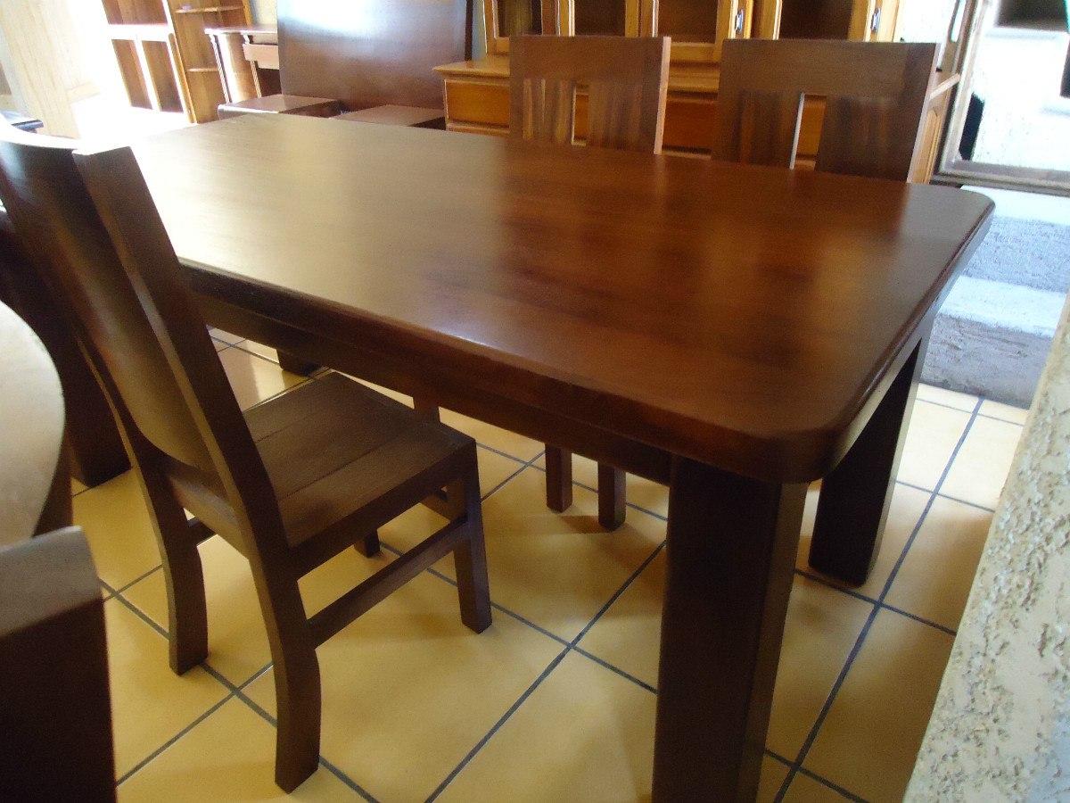 Mesa Comedor Con Ocho Sillas Madera Solida - $ 32,000.00 en Mercado ...