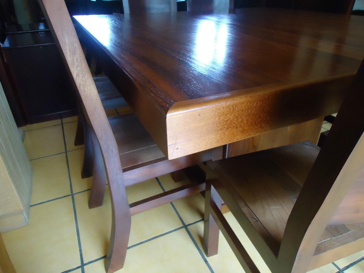 Mesa comedor cuadrada con 8 sillas madera parota solida Mesas de comedor 8 sillas