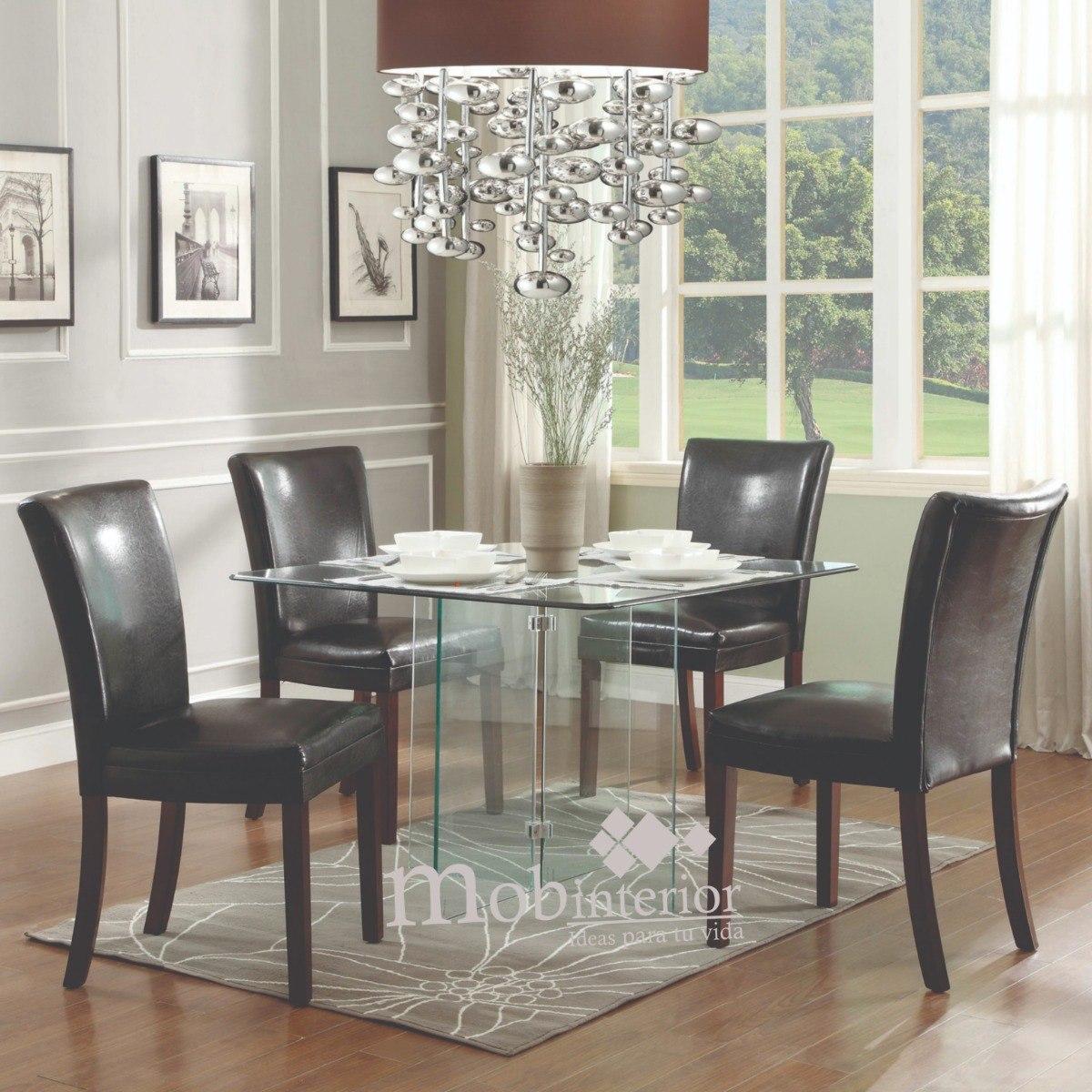 Mesa comedor de cristal templado para 4 personas for Mesas de cristal extensibles para comedor