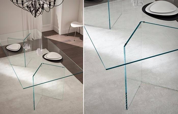 Mesa comedor de cristal templado para 6 personas for Mesa cristal 4 personas