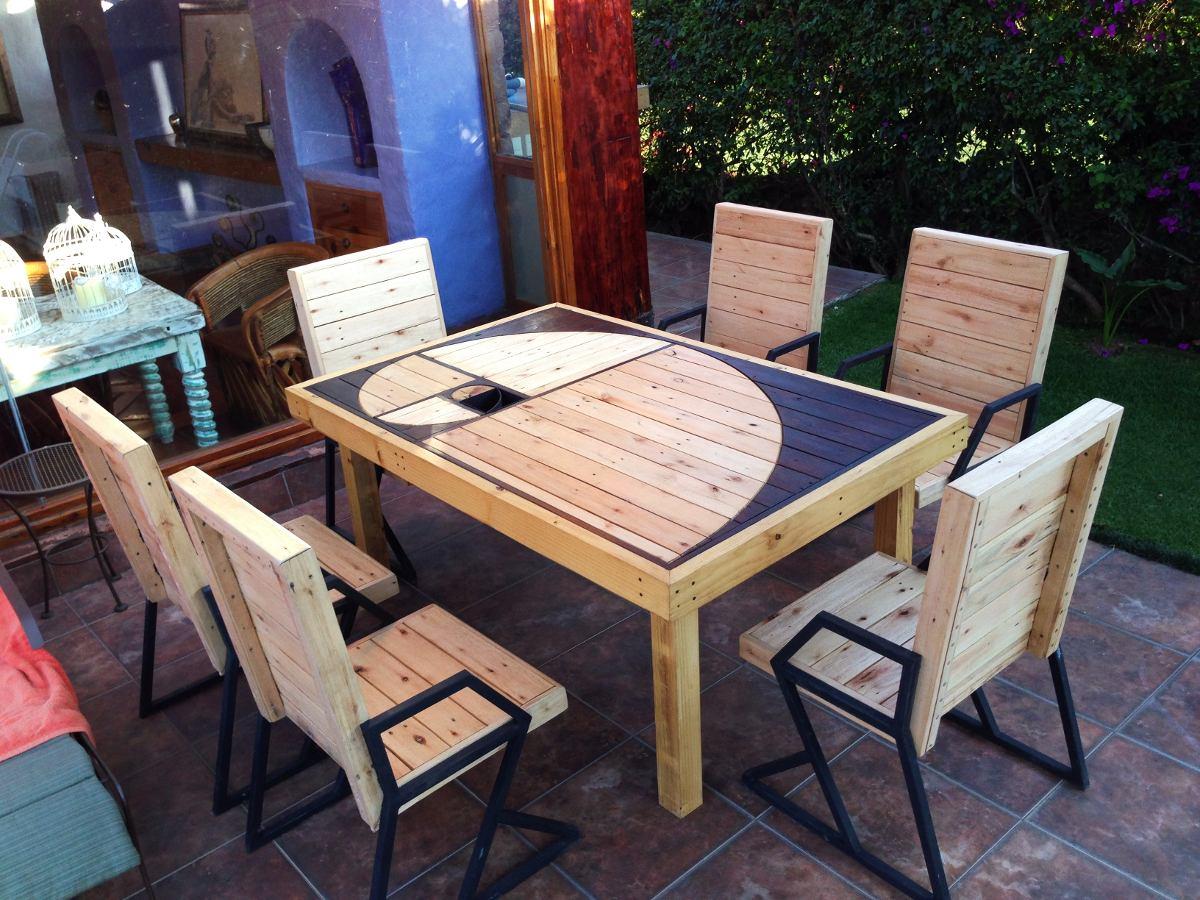 Mesa comedor de madera reciclada dise o espiral exclusivo for Comedores de madera baratos