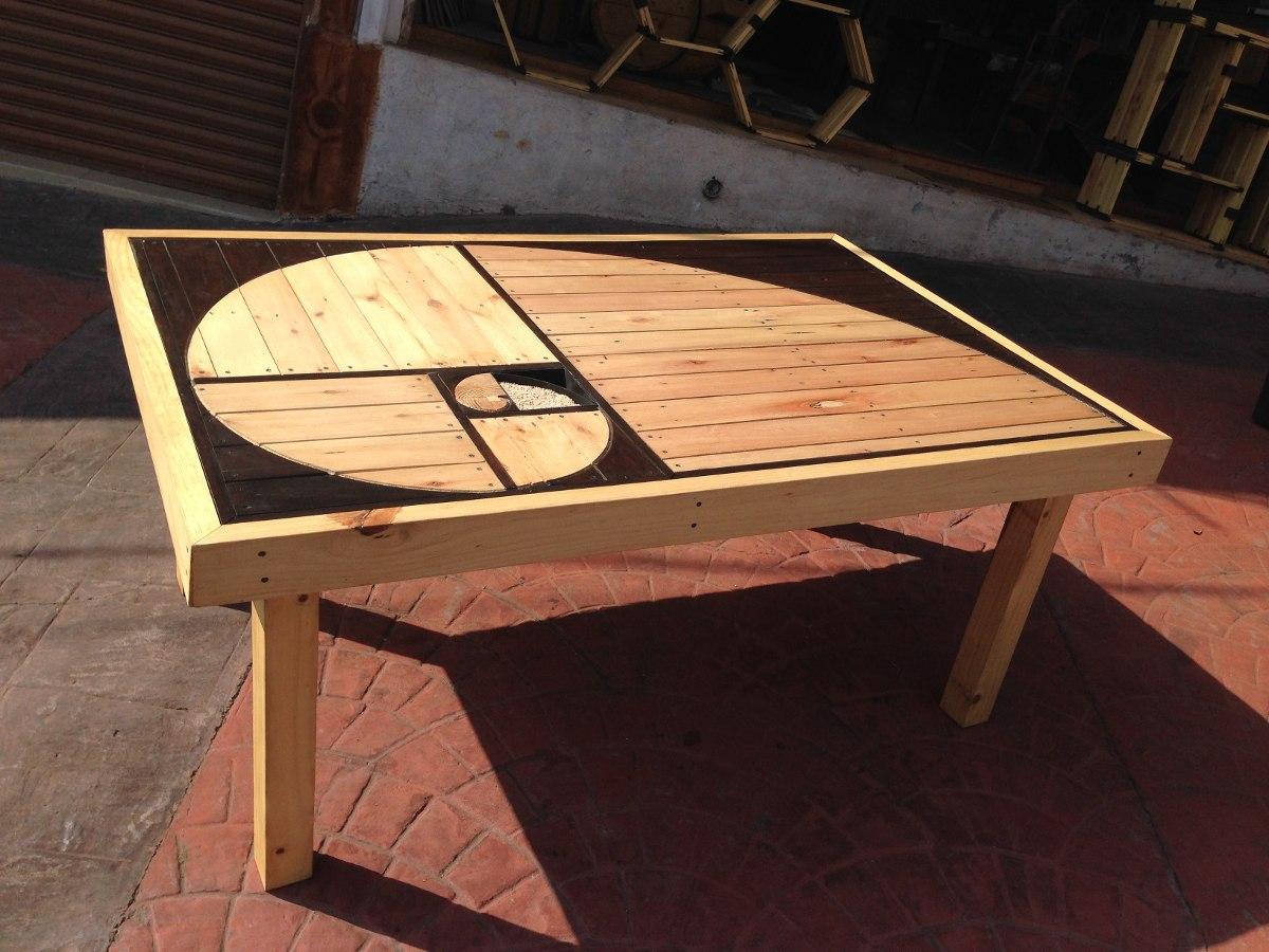 Mesa comedor de madera reciclada dise o espiral exclusivo for Mesas de comedor rectangulares