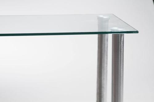mesa comedor de vidrio 10mm! de 90 x 80cm. diseño moderno.