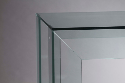 mesa comedor de vidrio 140x60cm. diseño moderno. minimalista