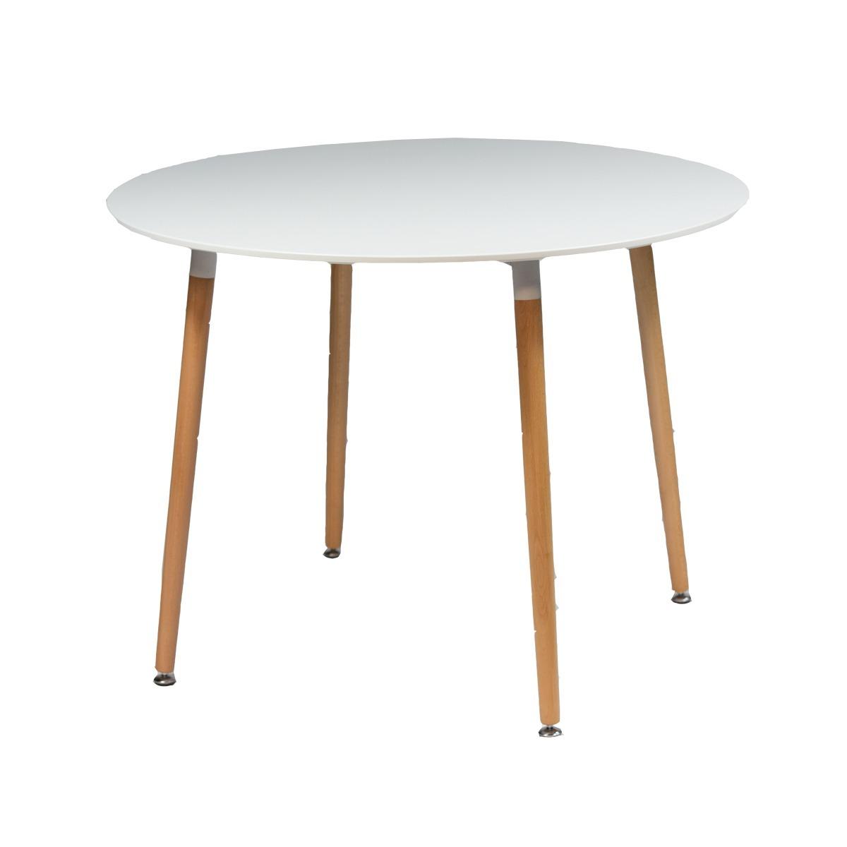 Mesa Comedor Diseño Eames Blanca Redonda Unsi - $ 3.390,00 en ...