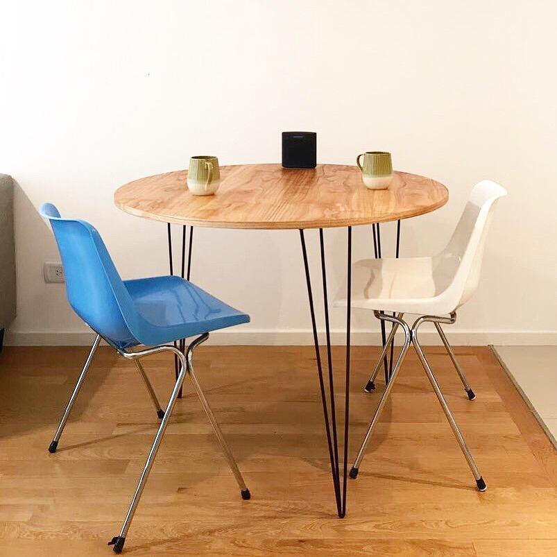 Mesa Comedor Diseño Industrial Hairpin 60cm Diametro - $ 4.200,00 en ...