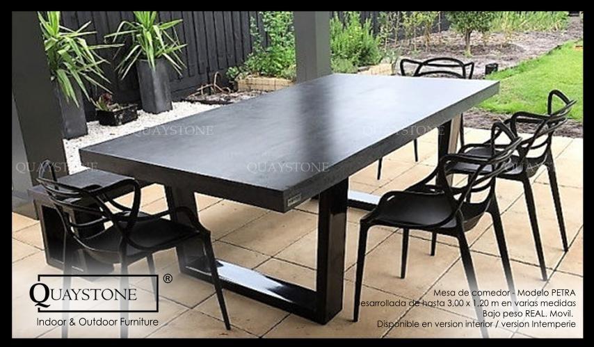 Mesa Comedor Diseño Moderna Exterior Marmol Fabricaquaystone