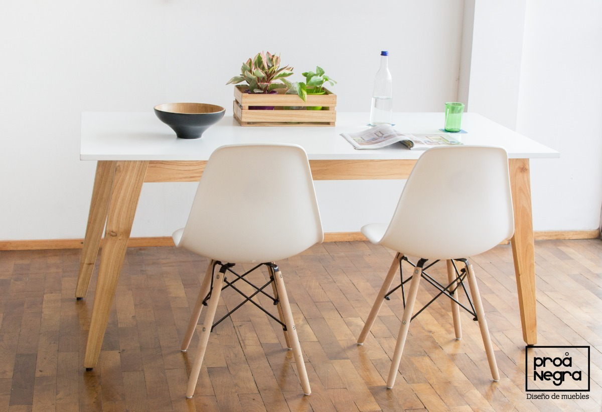 Mesa Comedor Diseño Moderno Vintage Escandinavo 1.30x80