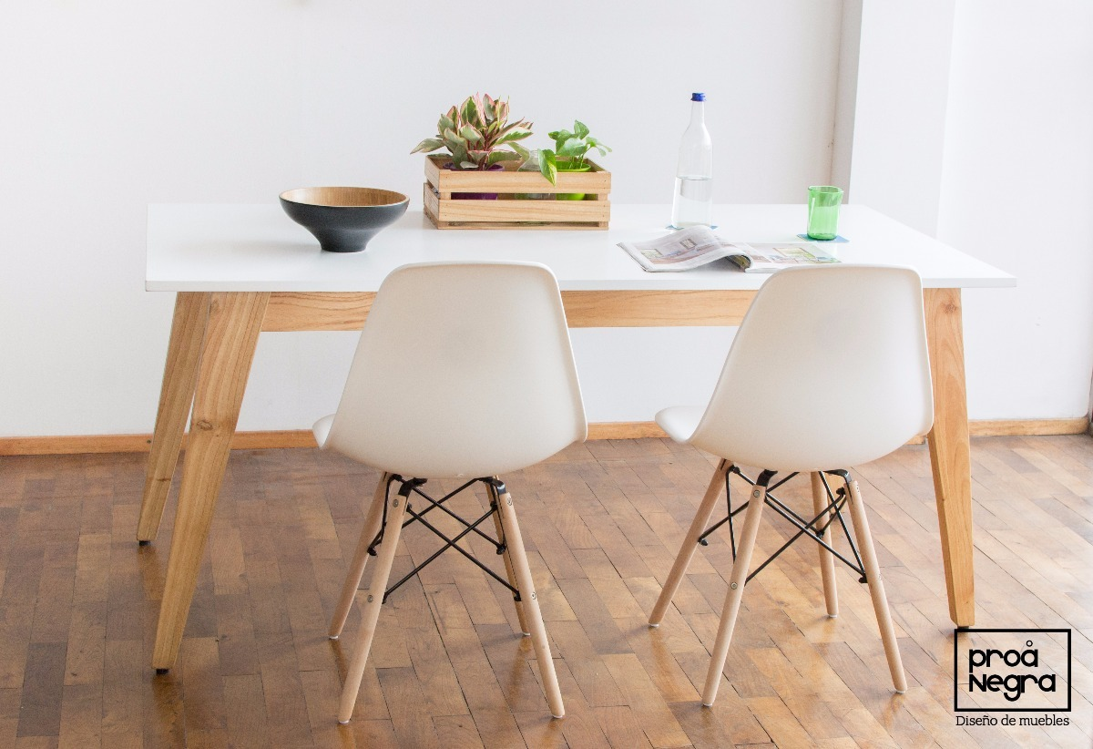 Mesa Comedor Diseño Moderno Vintage Escandinavo 1.60/1.70x90