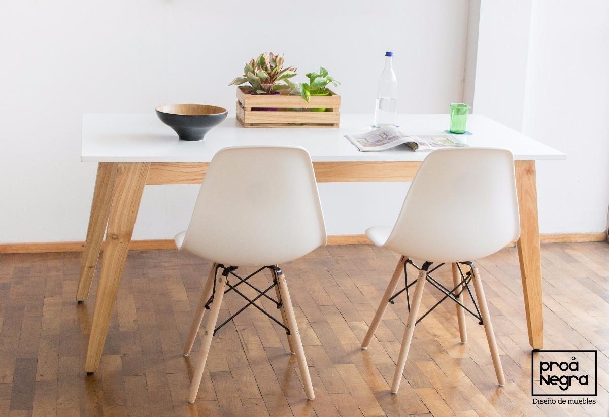 Mesa Comedor Diseño Moderno Vintage Escandinavo 1.60/1.80x90