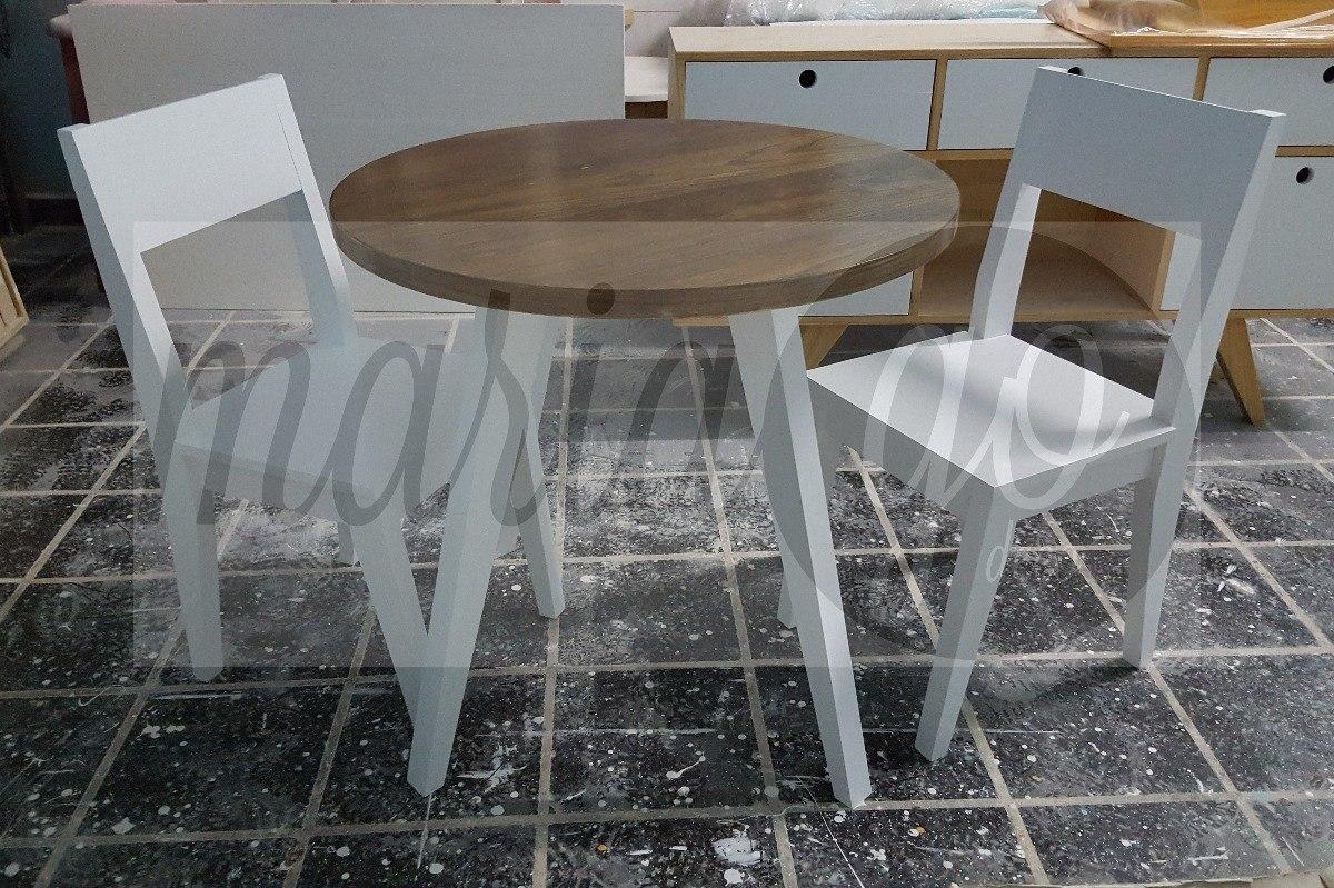 Mesa Comedor Diseño Nordico Escandinavo Redonda 80 Cm Diam - $ 3.500 ...