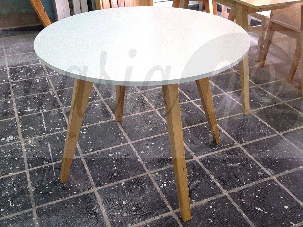 Mesa Comedor Diseño Nordico Escandinavo Redonda 80 Cm Diam - $ 3.700 ...