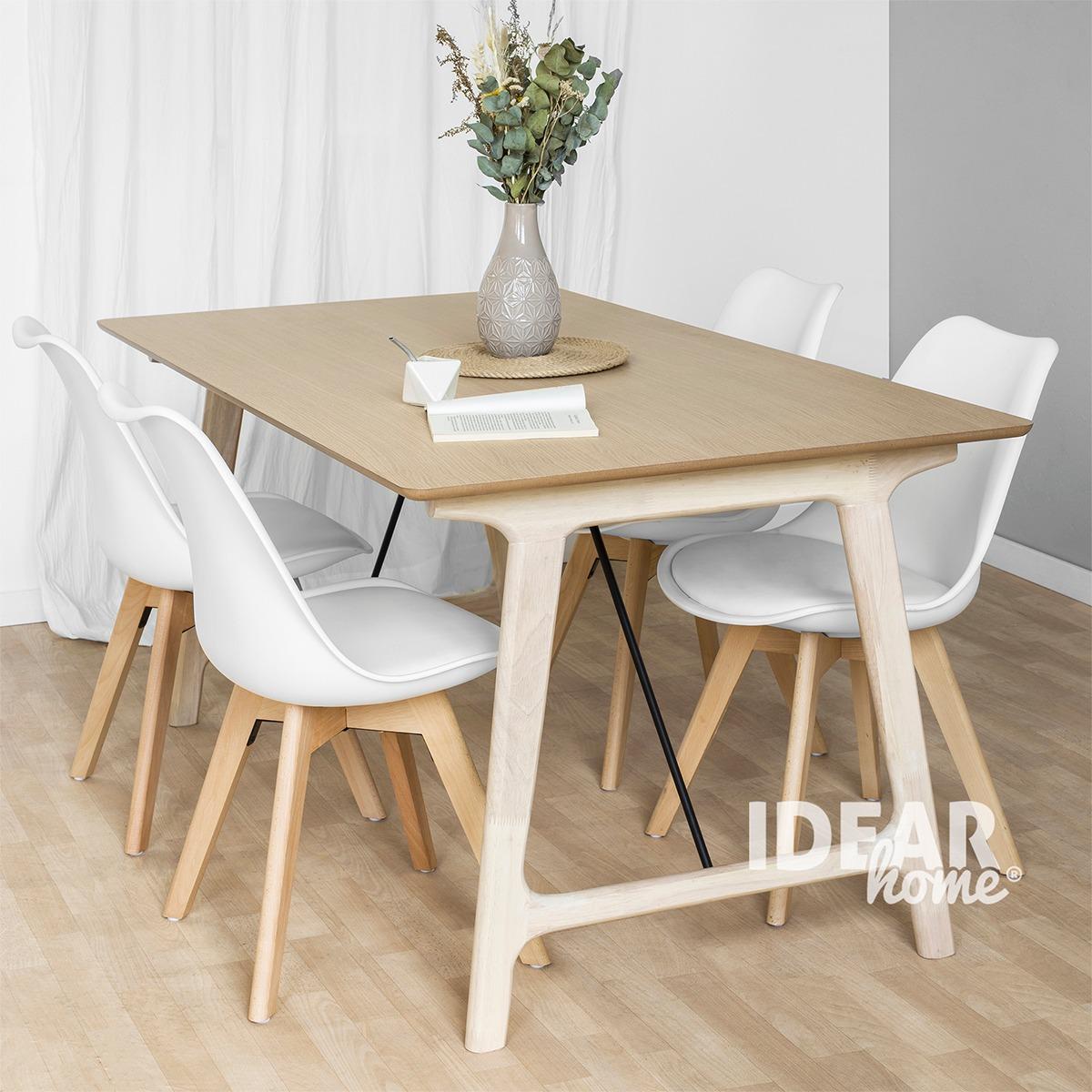 Mesa Comedor Diseño Nordico Madera Rectangular