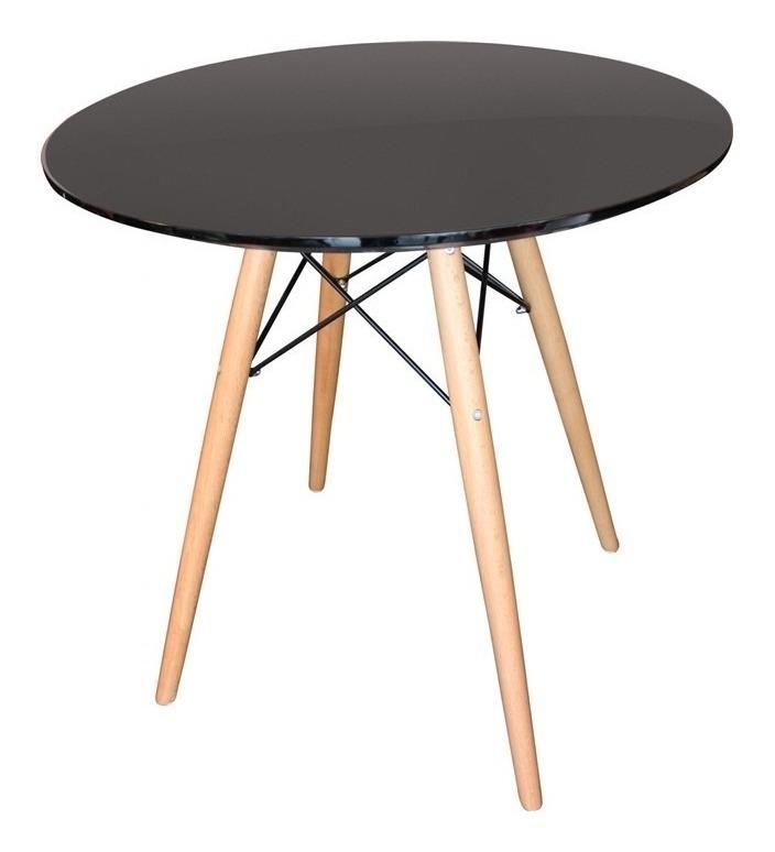 Mesa Comedor Eames 80cm Negra - Liquidación!!