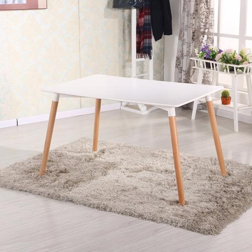 mesa comedor eames rectangular 120mt blanca / nordik