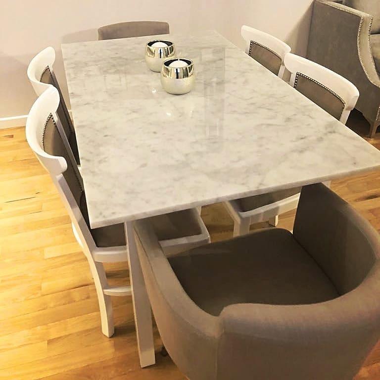 Mesa Comedor En Marmol Carrara Con Hierro O Madera 140x80 - $ 28.900 ...