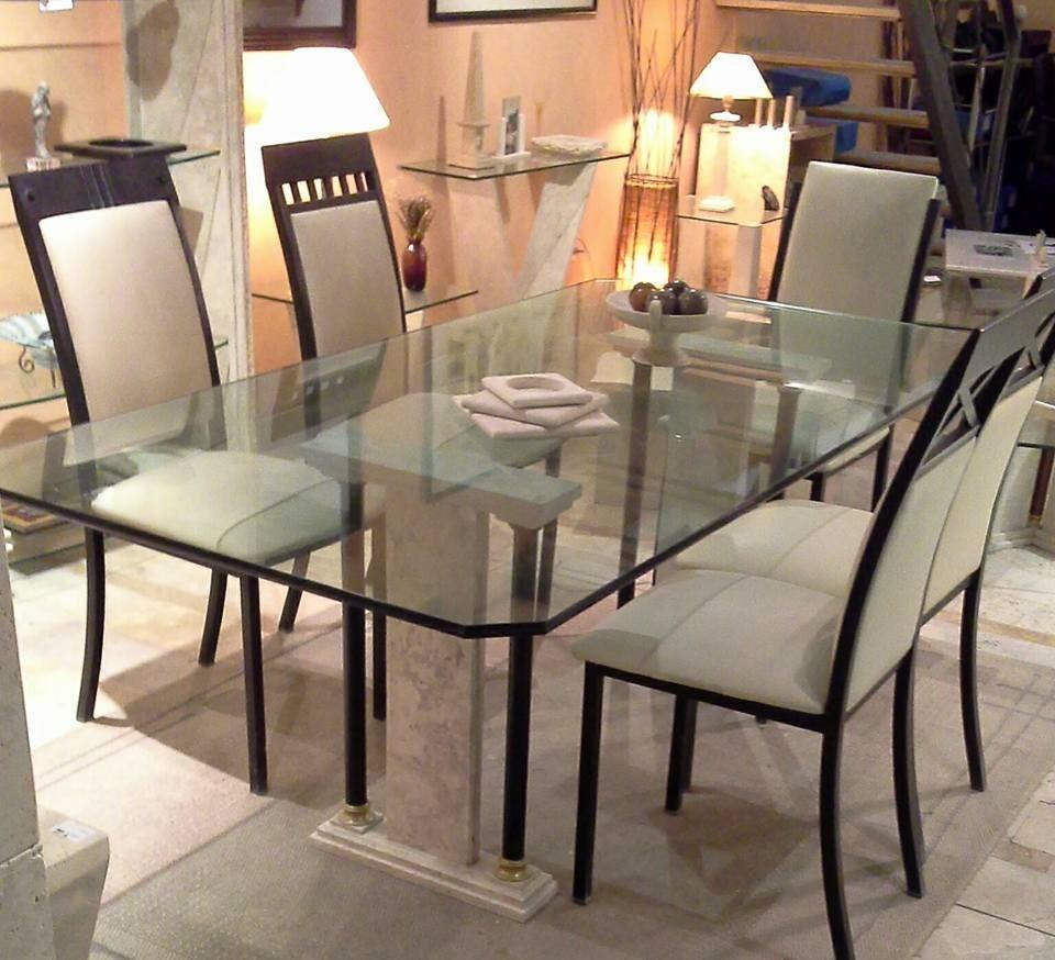 Mesa Comedor En Travertino Outlet (2 Bases Sin Cristal)* - $ 12.200 ...