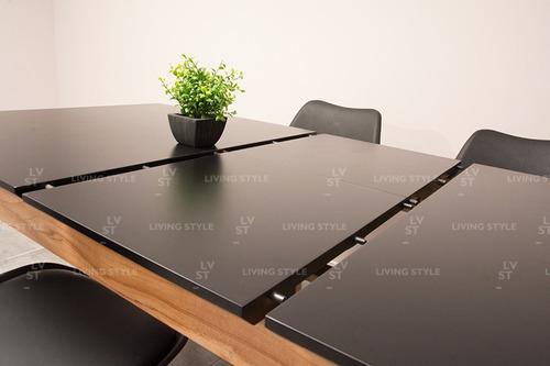 mesa comedor escandinava nordica extensible 120 a 160 cm