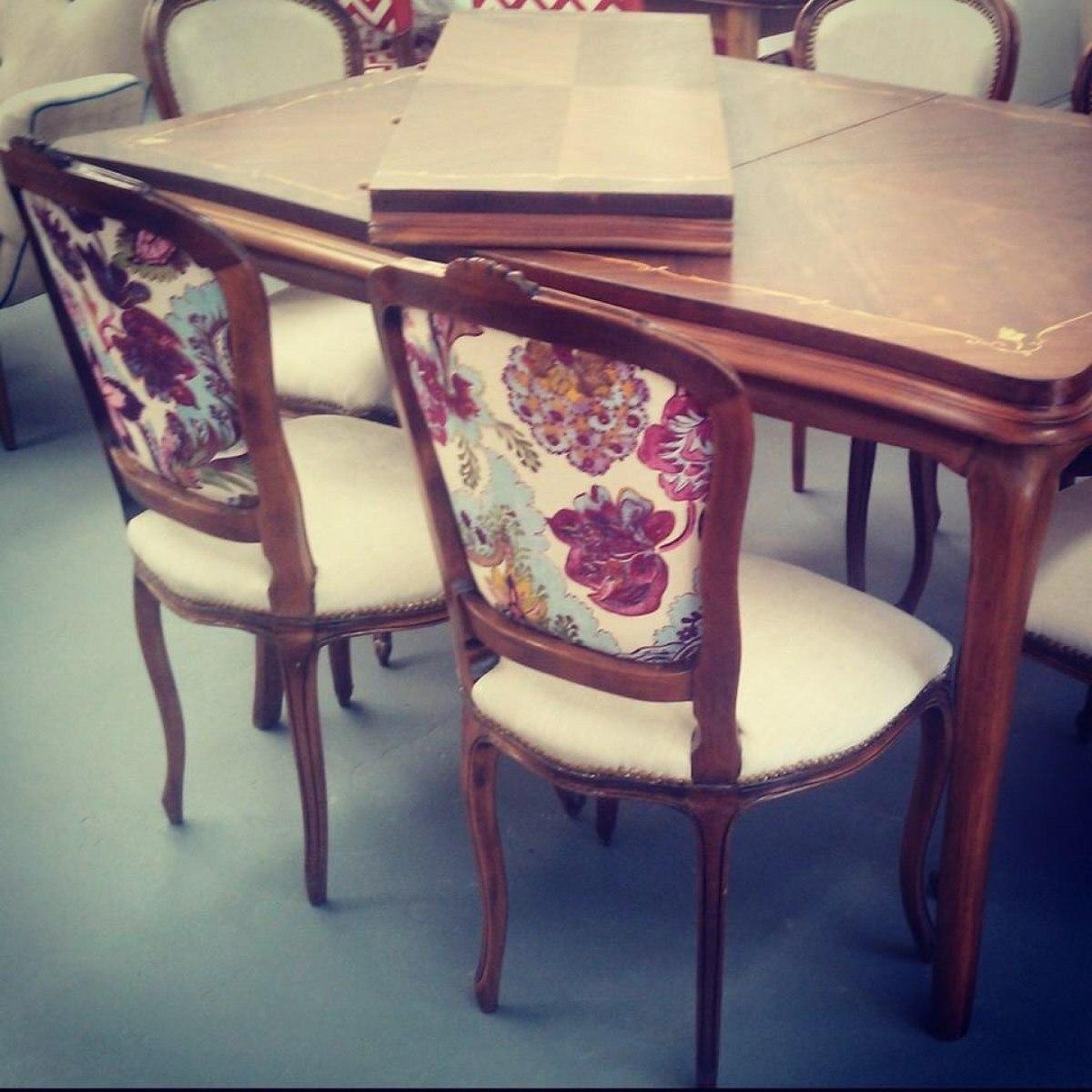 Mesa Comedor Estilo Frances Luis Xv Antigua Restaurada - $ 9.800,00