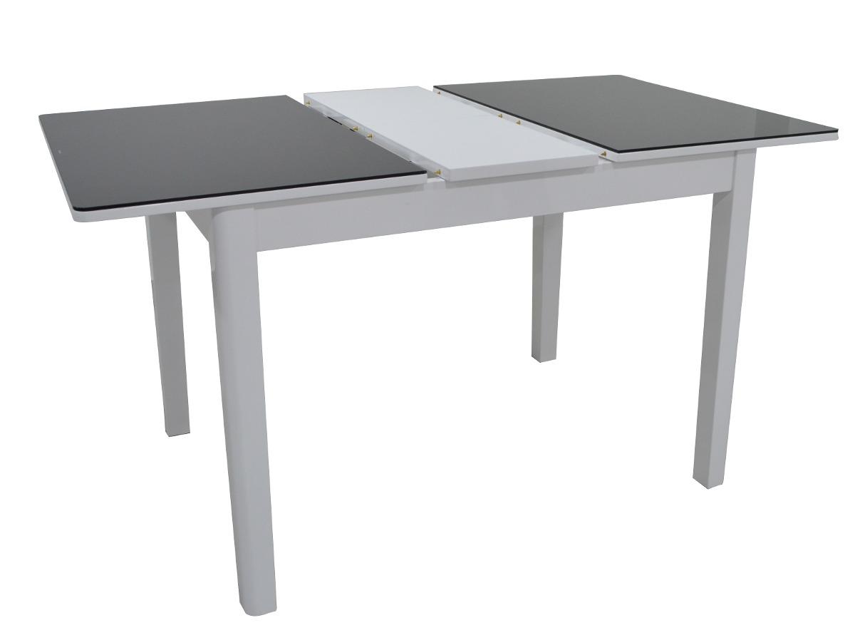 Mesa comedor extensible 4 a 6 puestos vidrio templad for Comedor 4 puestos vidrio