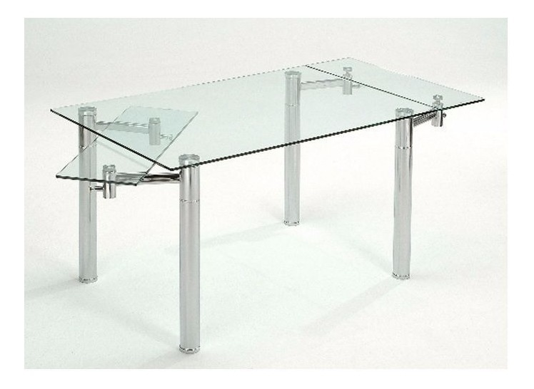 Mesa Comedor Extensible Vidrio Templado 1,40 A 2m