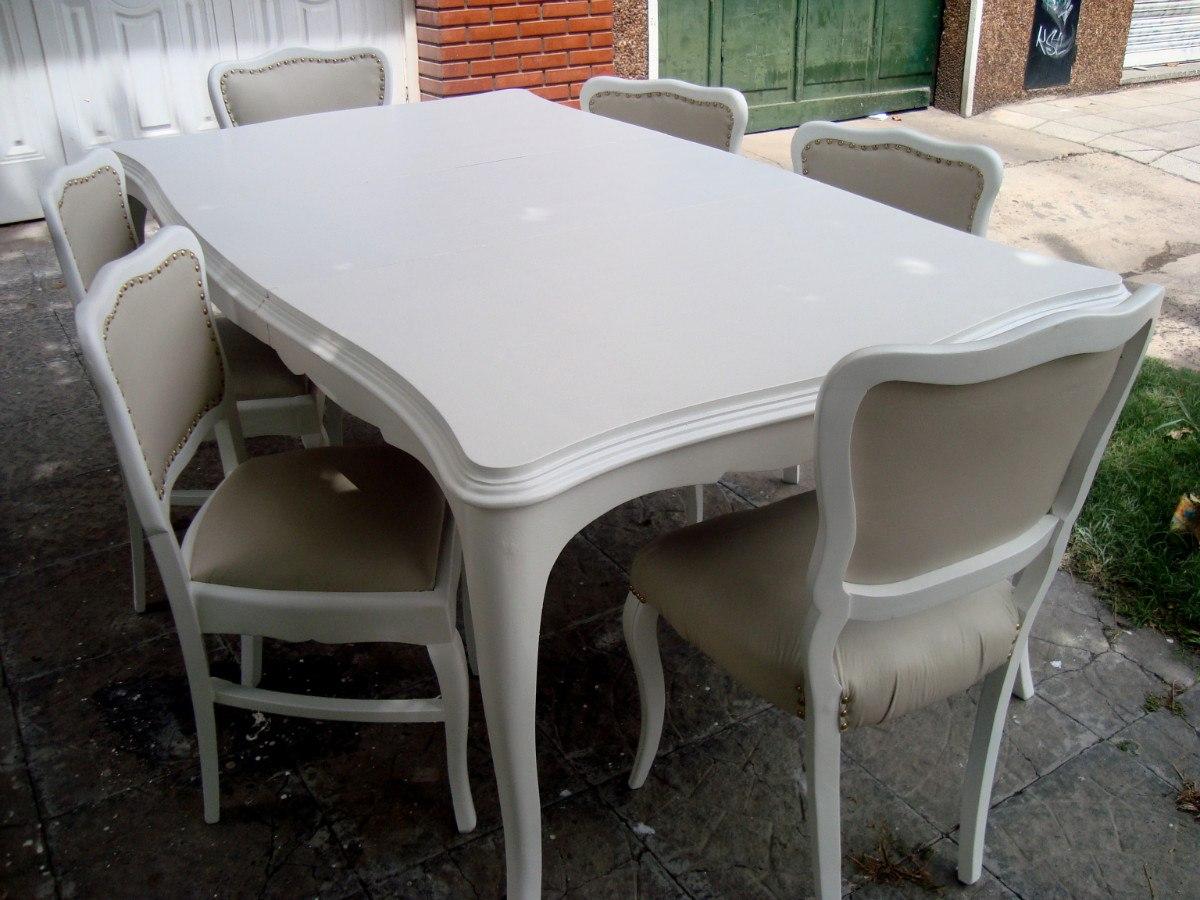 Mesa de comedor francesa - Mesa shabby chic ...