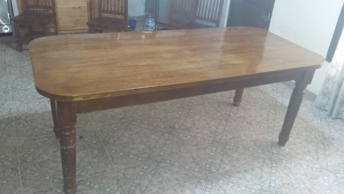 Mesa Comedor Grande Madera Maciza - $ 5.000,00 en Mercado Libre