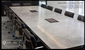 Mesa Comedor Grande Moderna Oficina Marmol Silestone Fabrica