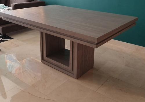 mesa comedor gris como nueva