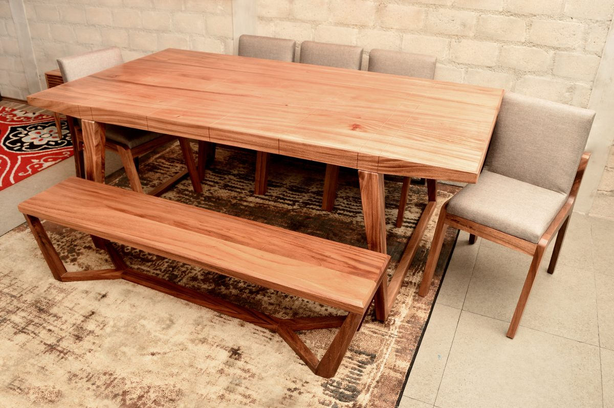 Mesa comedor holbox madera solida dise o envio gratis for Diseno de muebles de madera gratis