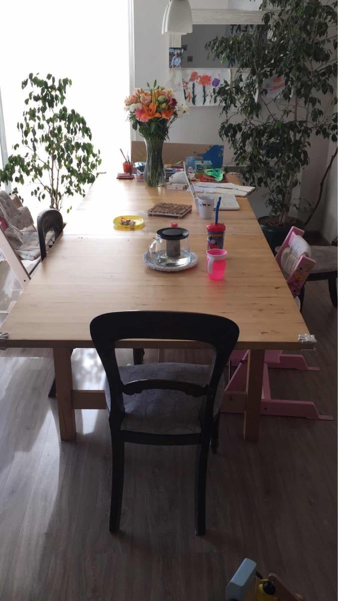 Mesa Comedor Ikea Extendible 100x220(260) - $ 200.000 en Mercado Libre